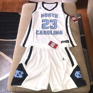 Women's Jordan by Nike UNC Official Basketball Set